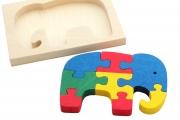 Puzzle encadré Eléphant