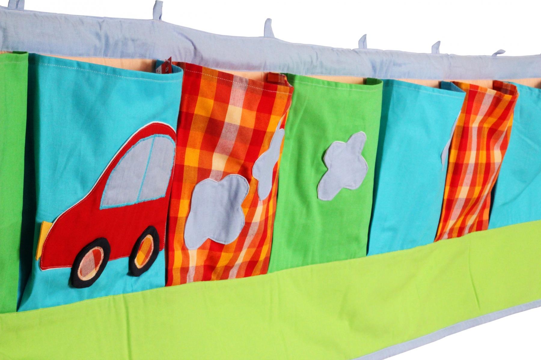 Rangement mural poches en coton voiture - Poche de rangement mural ...