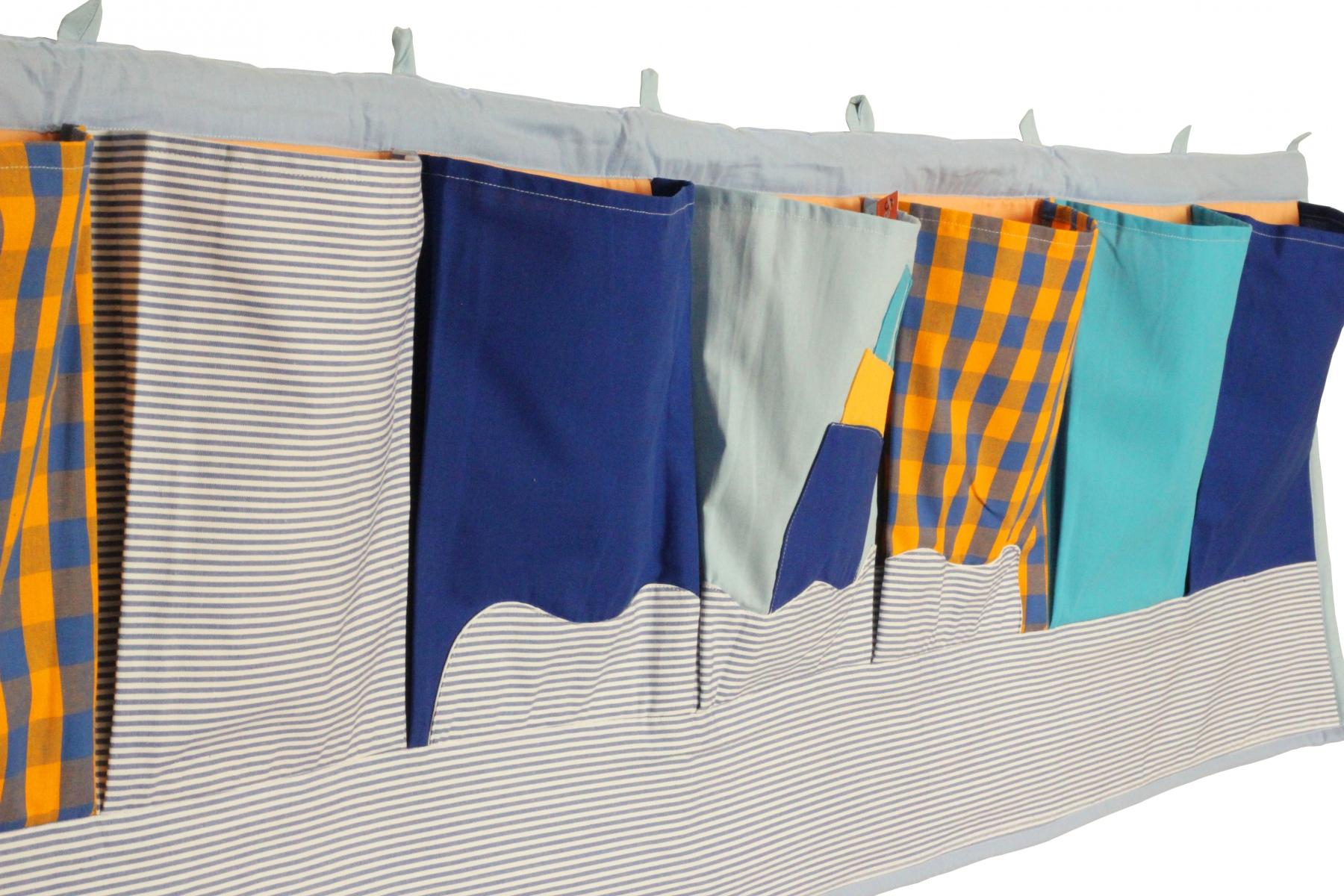 rangement mural poches en coton en mer. Black Bedroom Furniture Sets. Home Design Ideas
