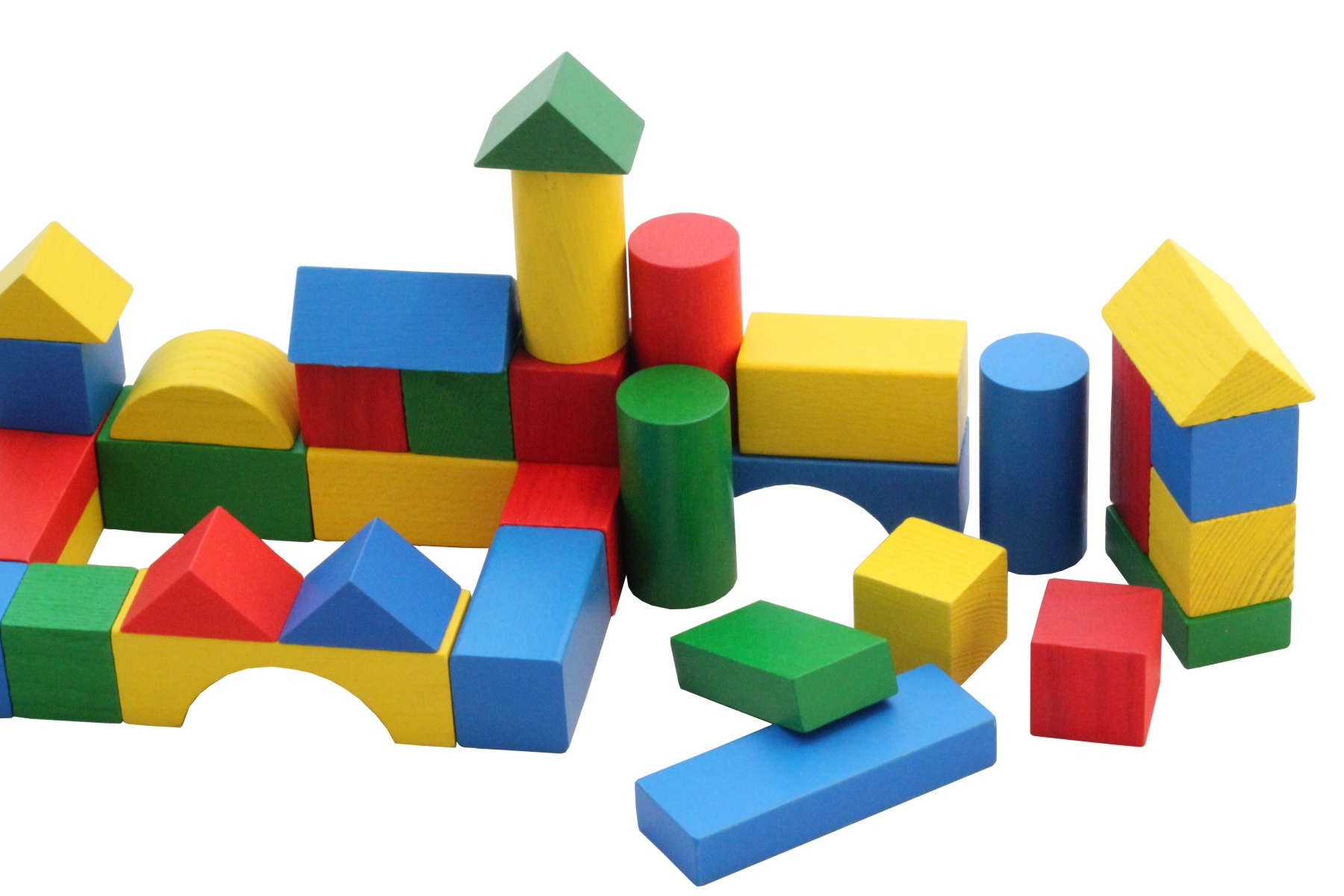cubes de construction en bois multicolores 27 mm