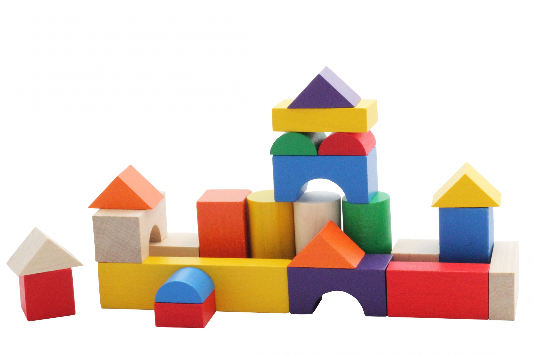 cubes de construction en bois multicolores 20 mm