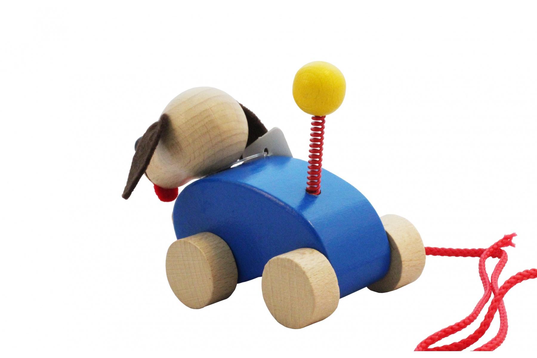 petit chien en bois avec clochette. Black Bedroom Furniture Sets. Home Design Ideas