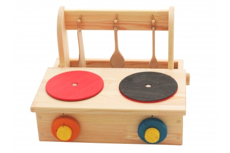jeux d'imitation : cuisinière en bois (cuisine en bois pour enfant)
