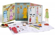 Suzie à la mode de Paris - Poupée en carton à habiller - Loisirs Créatifs Mitik