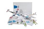 Mes Z'avions - Avions à assembler et personnaliser en carton recyclé - Loisirs Créatifs Mitik