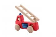 Petite voiture de pompier en bois