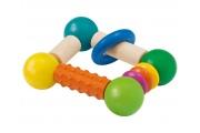 Hochet « Cubellino » avec rouleau de dentition - Hochet en bois