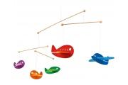 Mobile Avions colorés - Mobile en bois Selecta