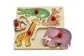 Puzzle avec boutons ZOO - Puzzle en bois Selecta