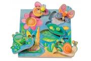 Puzzle avec boutons Pépito et ses amis - Puzzle en bois Selecta