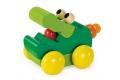 Zoolini Crocodile en bois - Jouet en bois à pousser Selecta