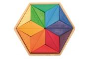Grand puzzle créatif Etoile - Puzzle en bois Grimm's