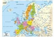 Puzzle en bois Carte d'Europe 50 pièces - Puzzle Michèle Wilson
