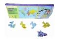 Puzzle en bois Carte du monde 50 pcs - Puzzle Michèle Wilson