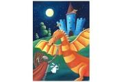 Puzzle en bois Le Dragon 12 pièces - Puzzle Michèle Wilson