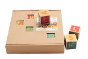 Cubes Lettres en bois - Fabriqué en Europe