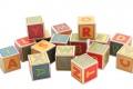 Cubes Lettres en bois - Apprendre en s'amusant
