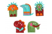 Marionnettes à doigts - Dinosaures