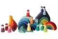 12 Amis Figurines en bois Grimm's - Développer l'imagination des enfants - Jouets Grimms