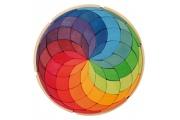 Maxi Puzzle créatif Spirales de Couleurs - Jeu Mandala en bois