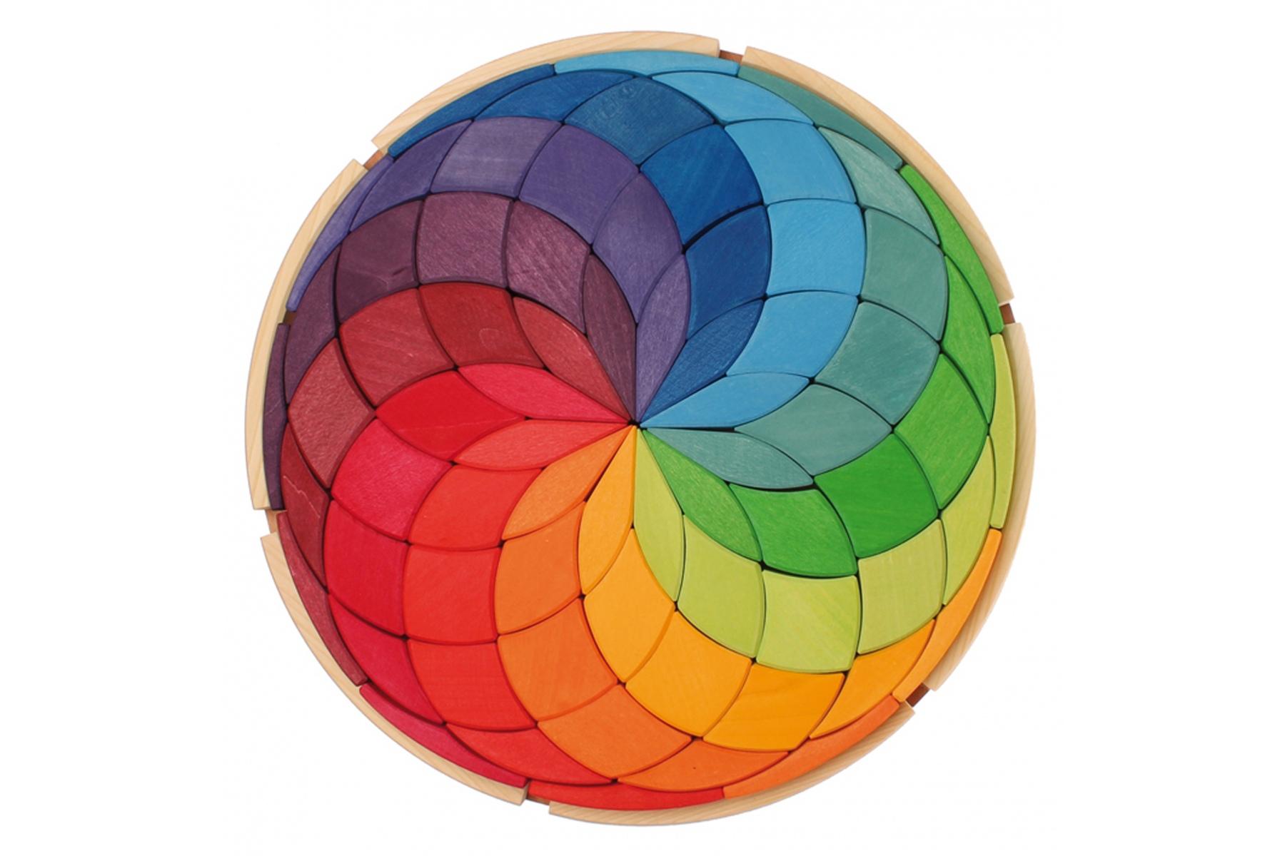 maxi puzzle cr atif spirale de couleurs maxi mandala en bois grimm 39 s. Black Bedroom Furniture Sets. Home Design Ideas