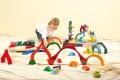 Maxi Puzzle-Set de construction Quatre éléments Grimm's - Jeu de construction en bois