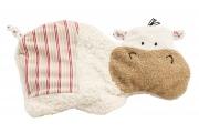 Coussin Bouillotte Hippopotame - Bouillotte coton bio - Fabriqué en Allemagne
