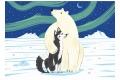 Puzzle en bois L'ours et le husky 12 pièces - Puzzle Michèle Wilson découpé en France