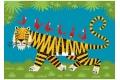 Puzzle en bois Le tigre 24 pièces - Puzzle Michèle Wilson découpé à la main en France