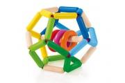 Hochet Space Selecta - Balle extensible Selecta - Hochet original en bois