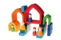 Jouets Grimm's - Maison Arc-en-ciel - Figurines en bois