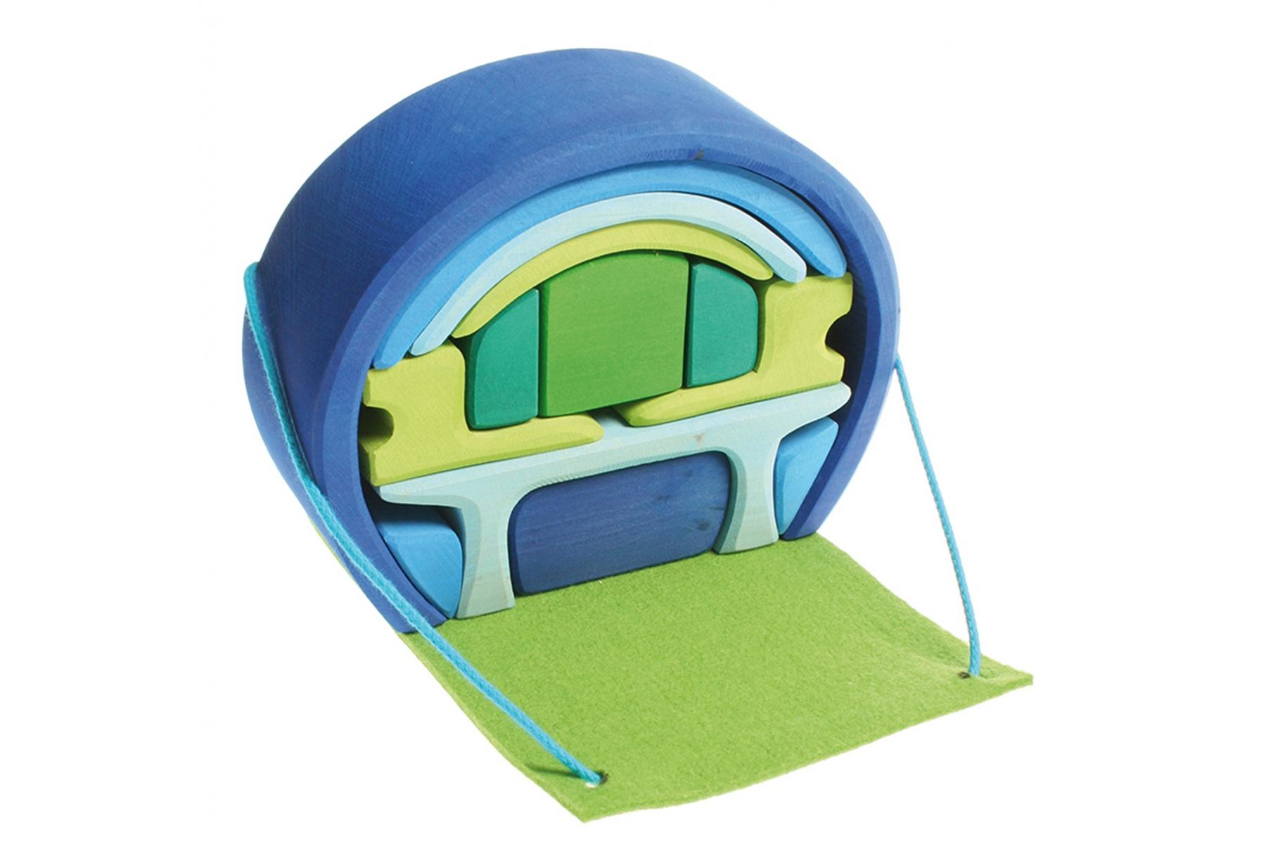 Maison de poup es mobile bleue verte maison mobile grimm 39 s - Maison bleue mobel ...