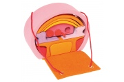 Maison de poupées mobile Rose-Orange