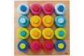 Anneaux multicolores HABA - Jeu d'encastrement en bois - Idée cadeau 2 ans