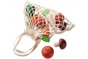 Légumes en bois HABA – Filet à provisions - Aliments en bois - Jeu d'imitation