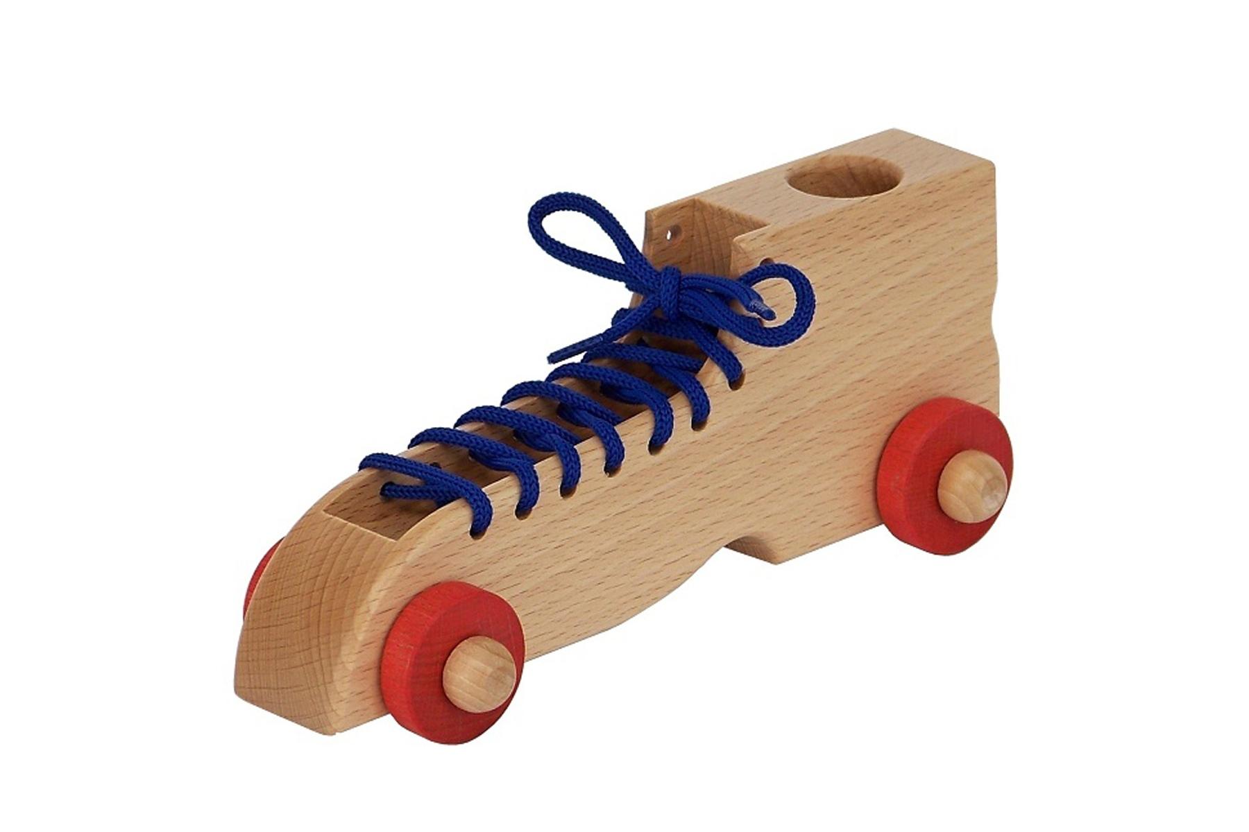 chaussure lacer en bois apprentissage montessori. Black Bedroom Furniture Sets. Home Design Ideas