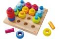 Anneaux multicolores HABA - Jeu à enficher en bois - Jouet à partir de 2 ans