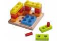 Jeu à enficher Cubes multicolores HABA - Jouet en bois à partir de 2 ans - Fabriqué en Allemagne