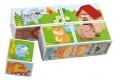 Puzzle cubes Animaux de la ferme HABA - Cubes en bois - Puzzle à partir de 2 ans