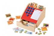 Caisse des marchands en bois - Jouer à la marchande - Jouets en bois Selecta - Fabriqué en Allemagne