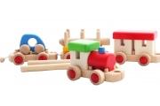 Train en bois modulable - Jeu de construction en bois massif - Fabrication européenne - BAJO