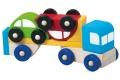 Petit Camion en bois avec 2 voitures - Voiture en bois - Fabrication européenne