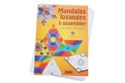 20 Mandalas losanges à assembler – Coloriage - Mandalas à colorier - Papier recyclé