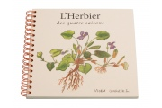 Créer son herbier - L'Herbier des quatre saisons - Cahier avec calques - Papier recyclé - Papeterie pour enfants
