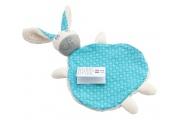 Doudou plat Lapin Bleu - Doudou lapin Made in France - Fabriqué par On chuchote à mon oreille