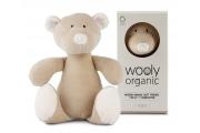 Doudou bio Ours - Doudou écologique fabriqué en Europe - Wooly Organic