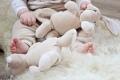 Doudou en coton bio Lapin - Mignon et très doux - Fabrication européenne