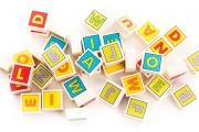 Cubes Lettres en bois – 40 carrés