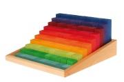 Escalier à compter Grimm's - 100 Blocs de calcul en bois - Jeu de construction Grimm's