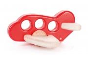 Avion en bois rouge - Jouets BAJO - Fabrication européenne
